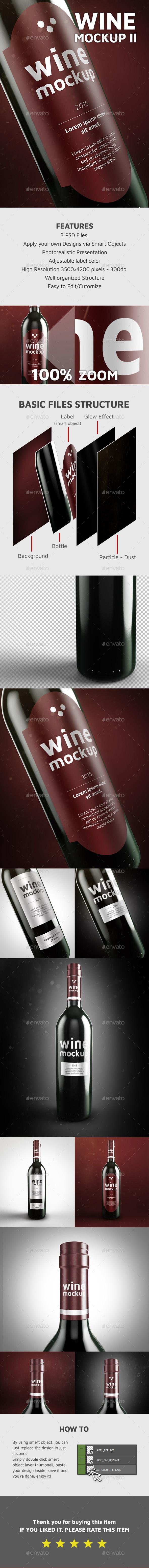 Wine Mockup II - Food and Drink Packaging