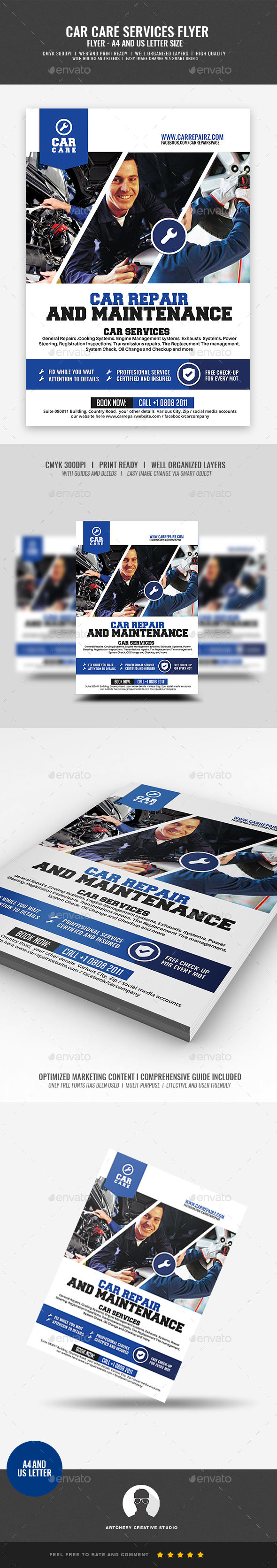 GraphicRiver Car Repair and Maintenance Flyer 21089161
