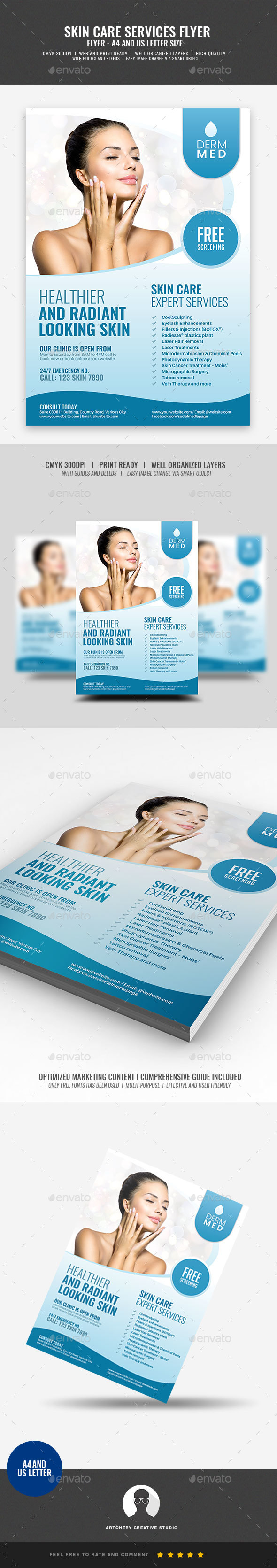 GraphicRiver Dermatology Services Flyer 21089237