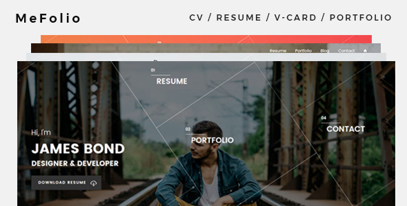 ThemeForest Mefolio Resume WordPress Theme 20815903