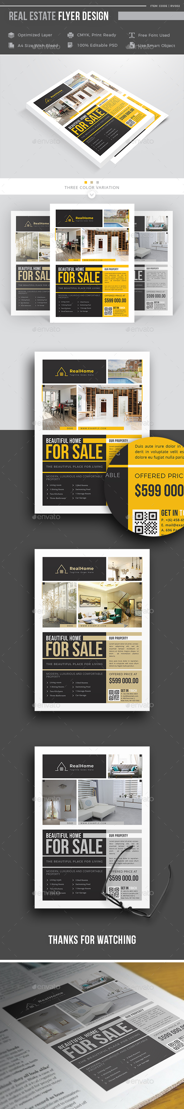 GraphicRiver Real Estate Flyer 21089263