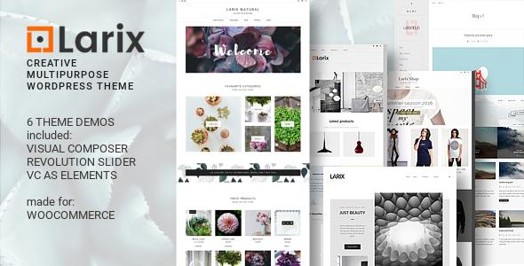 Larix - Creative Multipurpose WP theme - WooCommerce eCommerce