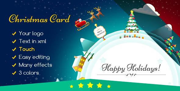 Christmas Card Gift Planet - CodeCanyon Item for Sale