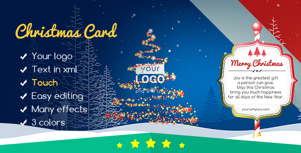 Christmas Card Magic Forest - CodeCanyon Item for Sale