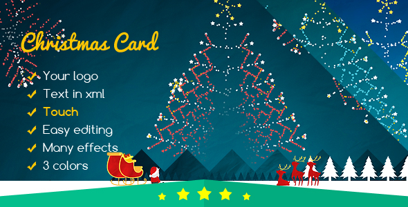 Christmas Card Fireworks of Santa - CodeCanyon Item for Sale