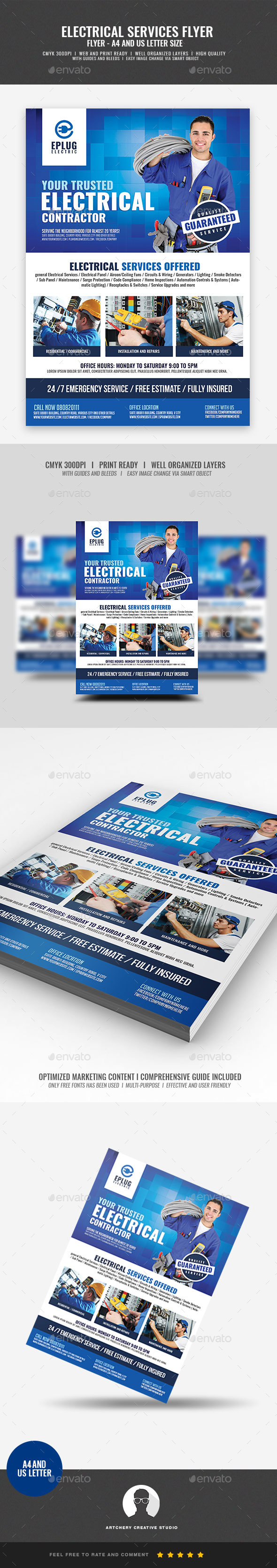 Electrical Company Promotional Flyer - Corporate Flyers
