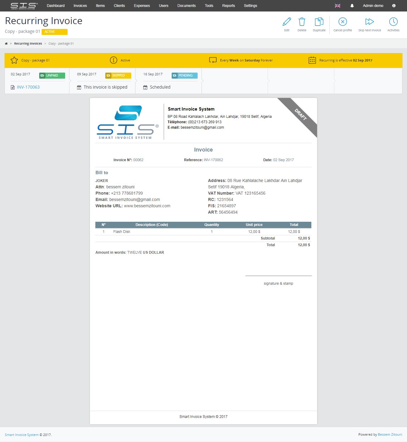 smart invoice create - photo #18