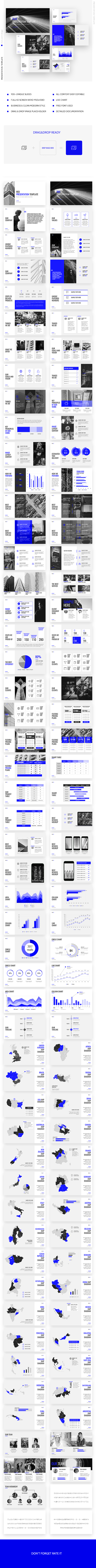 GraphicRiver Blue Business Marketing Powerpoint Template 21089318