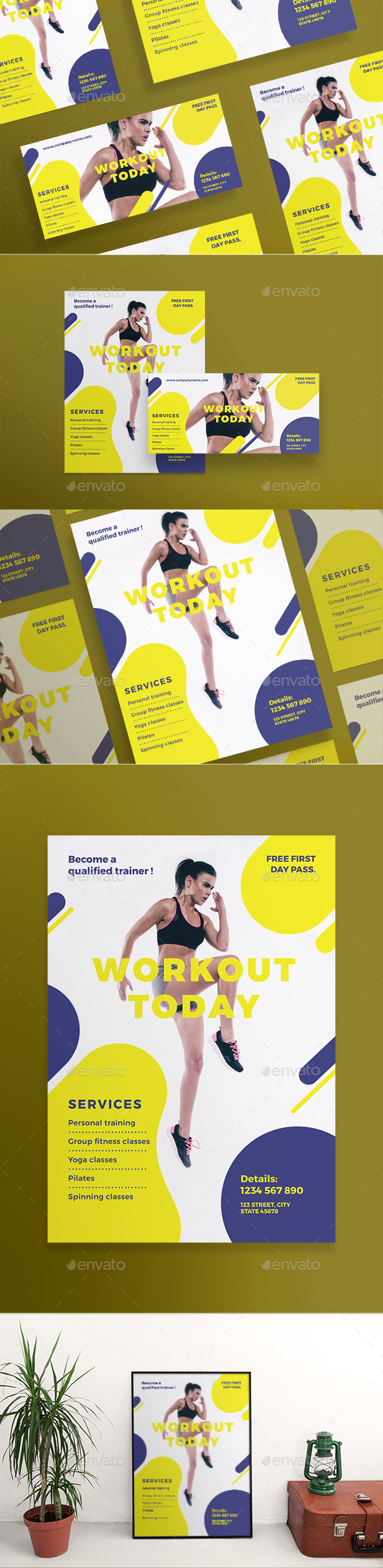 GraphicRiver Workout Flyers 21089337