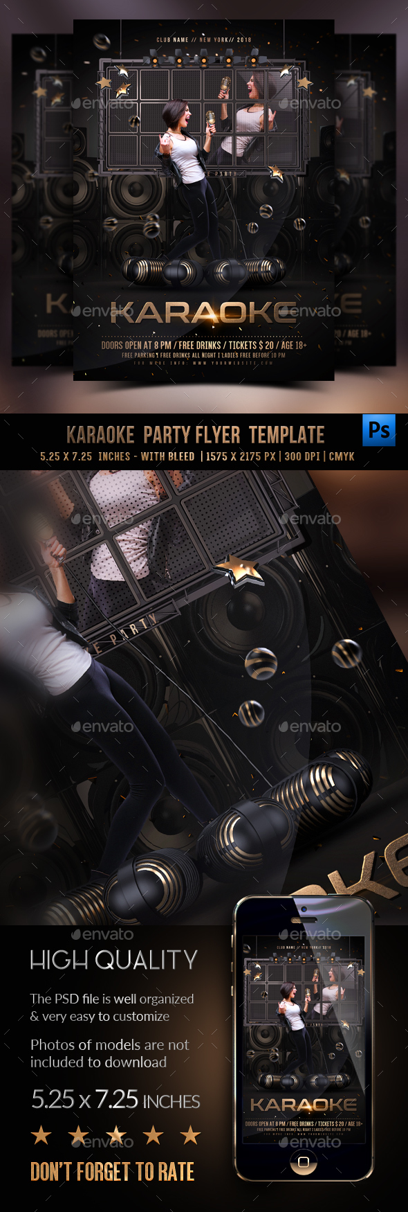 GraphicRiver Karaoke Flyer Template 21082780
