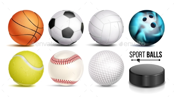 Sport Ball Set Vector - Sports/Activity Conceptual