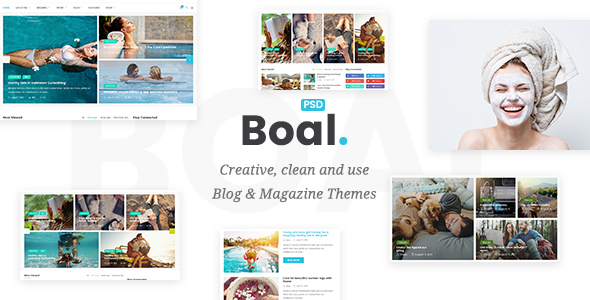 Download BOAL - Magazine & Personal Blog PSD Template            nulled nulled version