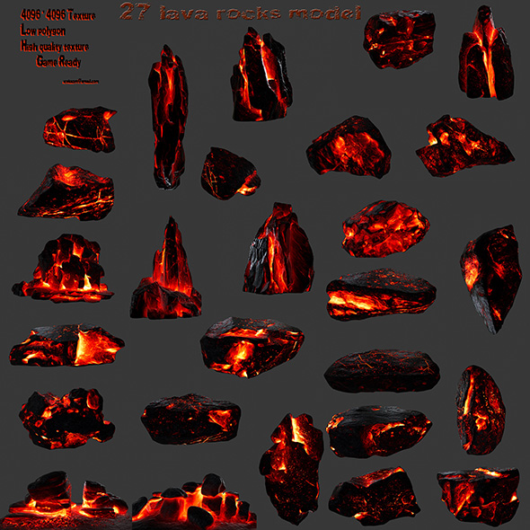 lava rocks - 3DOcean Item for Sale