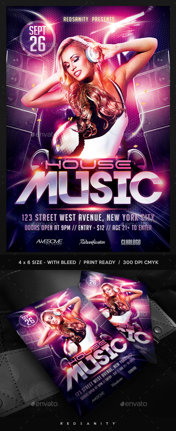 House Music DJ Flyer - Clubs & Parties Events