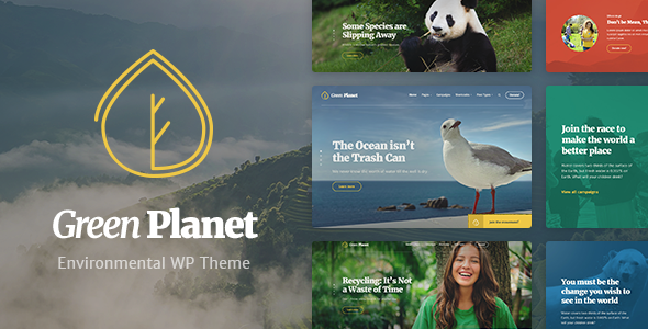 ThemeForest Ecology & Environment WordPress Theme Green Planet 21089437