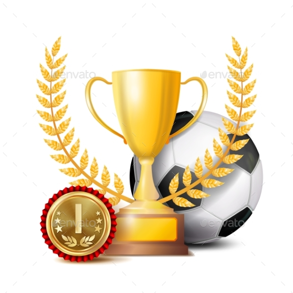 Football Achievement Award Vector - Sports/Activity Conceptual