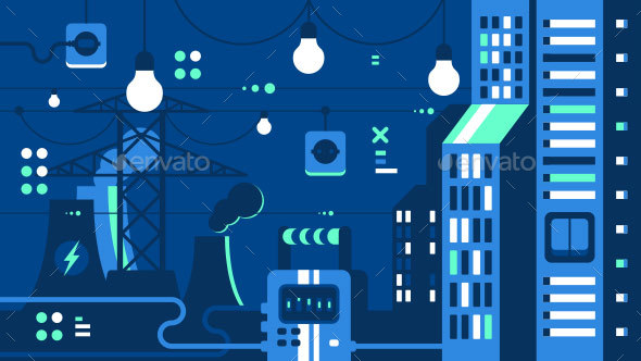 GraphicRiver City Electricity Supply 21089520