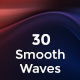 30 Smooth Waves Backgrounds - GraphicRiver Item for Sale