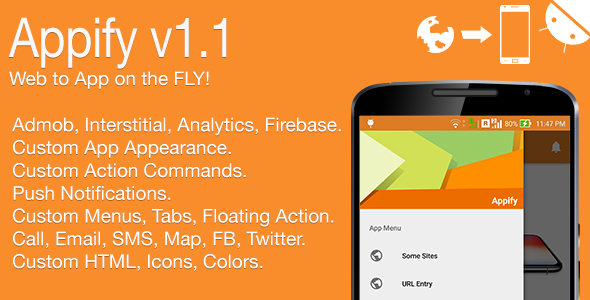 Download Source code              Appify - Web to App on the FLY! Android Full Application v1.1            nulled nulled version