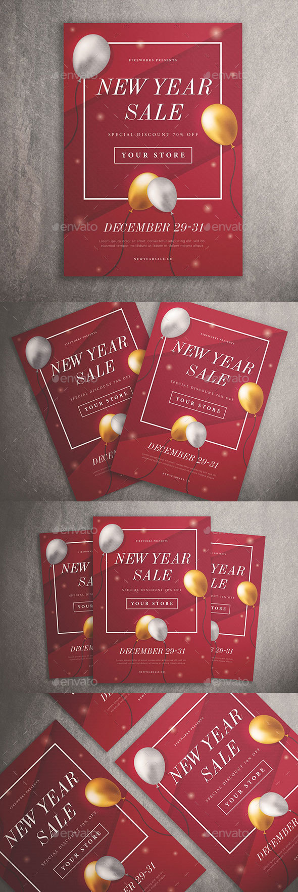 New Year Sale Flyer Vol. 01 - Commerce Flyers