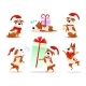 Christmas Cartoon Dog Emoticons - GraphicRiver Item for Sale