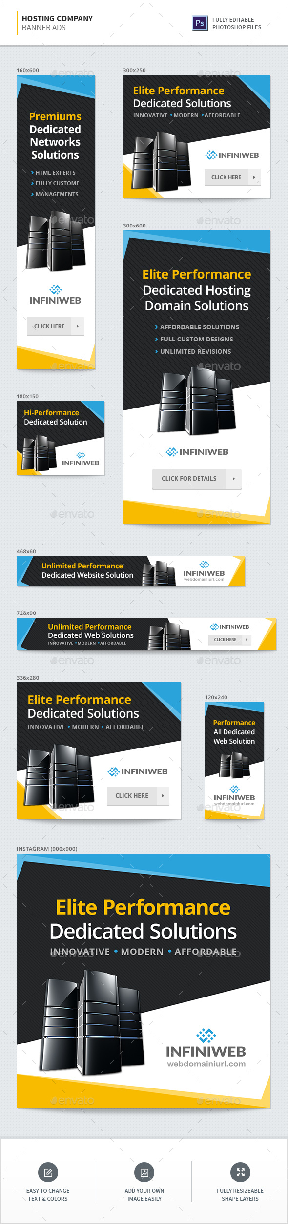GraphicRiver Hosting Company Banners 21089748