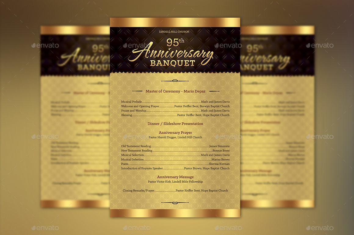church anniversary one sheet program template by godserv