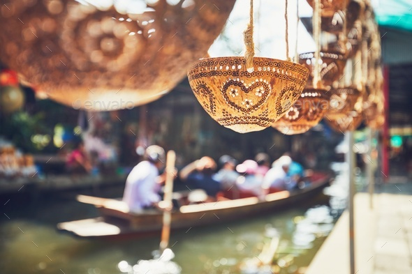 Traditional floating market - Stock Photo - Images