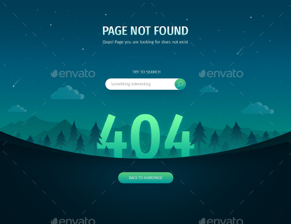 GraphicRiver 404 Error Page Night Landscape 21089928