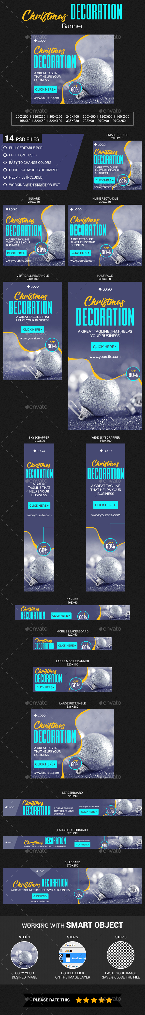Christmas Decoration Banner - Banners & Ads Web Elements