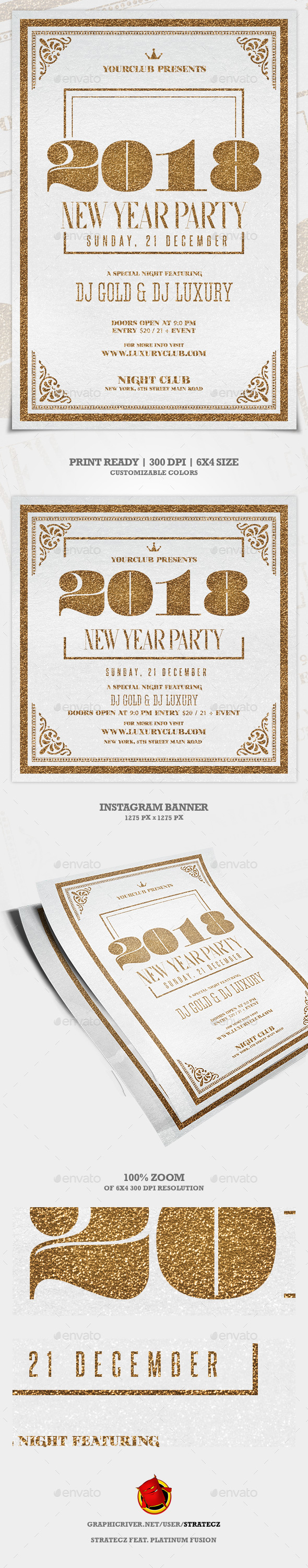 GraphicRiver New Year Party Flyer 21090247