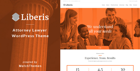 Image of Liberis - Attorney Lawyer WordPress Theme