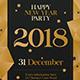Happy New Year 2018 Party Flyer - GraphicRiver Item for Sale