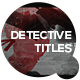 Detective Titles - VideoHive Item for Sale