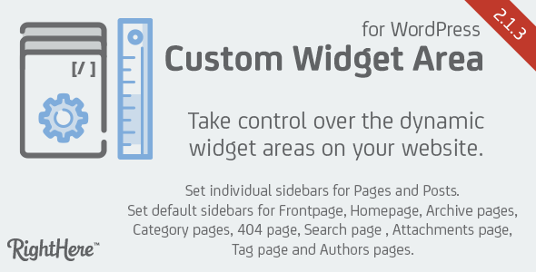 Custom Widget Areas for WordPress - CodeCanyon Item for Sale