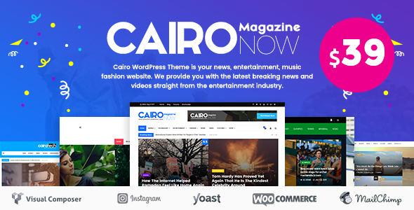 Cairo - Glossy News, Magazine, Blog WordPress Theme