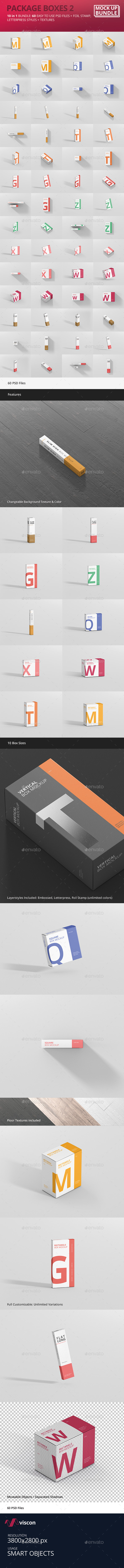 Box Mockup Bundle 2 - Miscellaneous Packaging