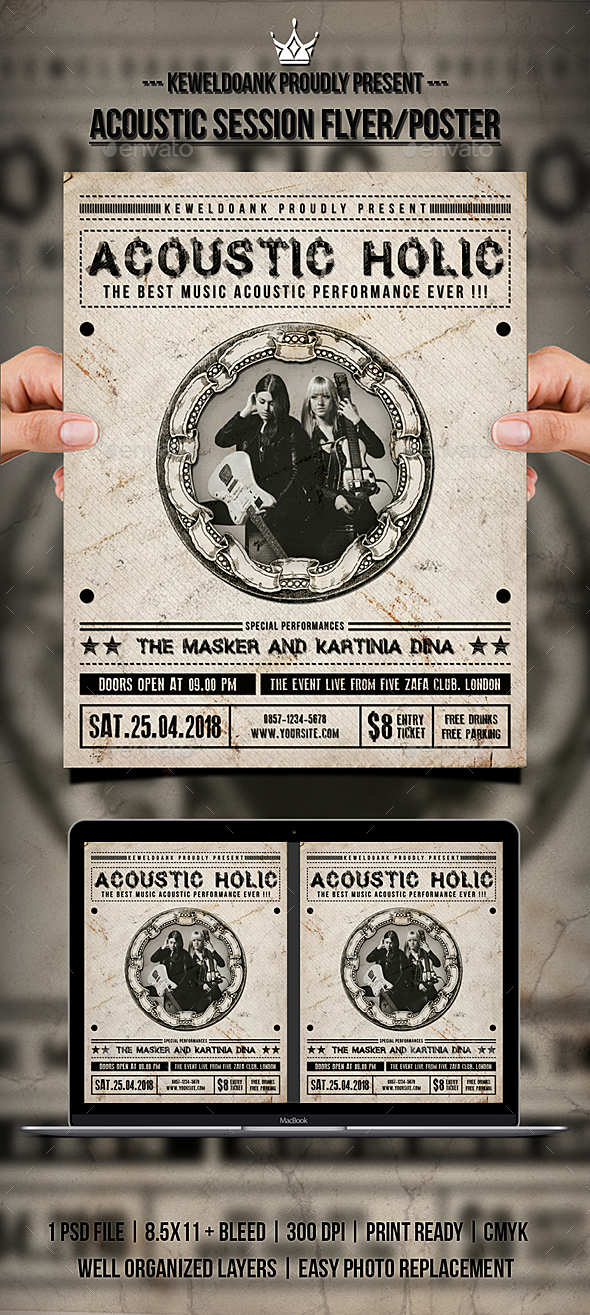 Acoustic Session Flyer / Poster - Concerts Events