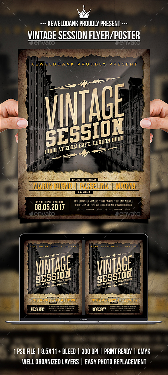 Vintage Session Flyer / Poster - Events Flyers