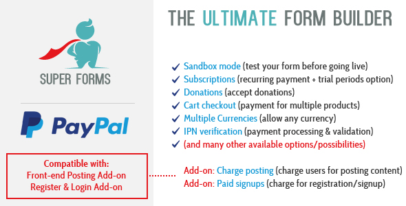 CodeCanyon Super Forms PayPal Add-on 21048964