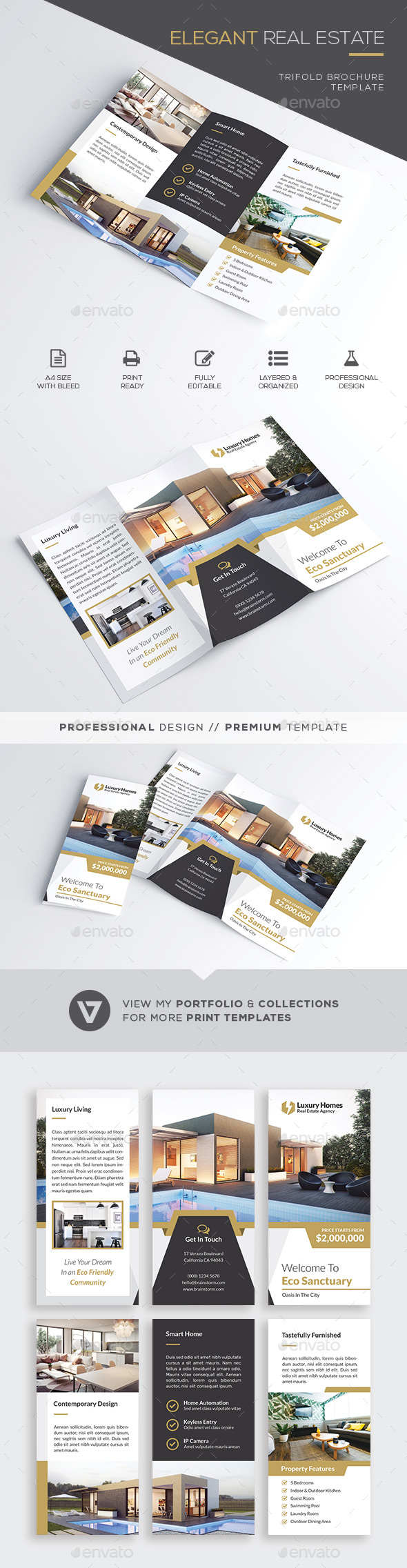 GraphicRiver Real Estate Trifold Brochure 21091249
