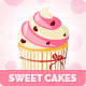 9 Sweet Cakes Vector Illustrations