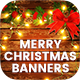 Merry Christmas Banners Ad - Instagram & Facebook Posts [02 Size Each]
