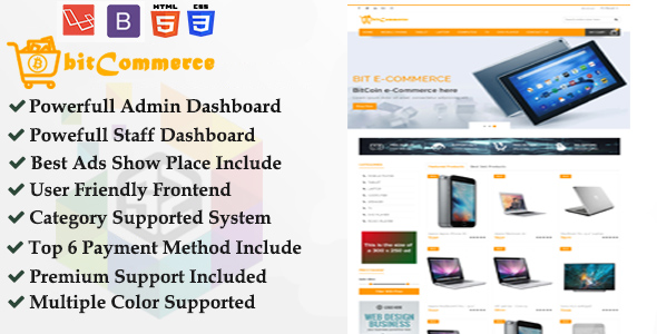 bitCommerce - Cryptocurrency Support Responsive eCommerce Business Platform - CodeCanyon Item for Sale