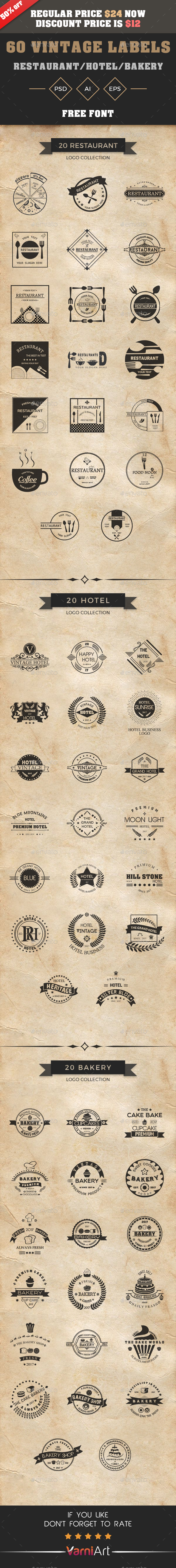 GraphicRiver Vintage Logo Bundle 21091434
