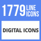 1779 Digital Filled Line Icons - GraphicRiver Item for Sale