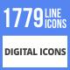 1779 Digital Filled Line Icons