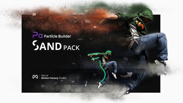 Particle Builder | Sand Pack: Dust Sand Storm Disintegration Effect Vfx Generator