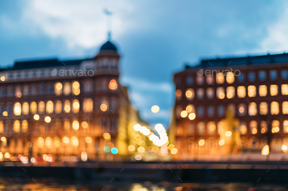 Helsinki, Finland. Abstract Blurred Bokeh Boke Background Of Cro - Stock Photo - Images