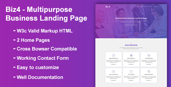ThemeForest Biz4 Multipurpose Business Landing Page 21091518